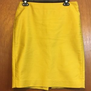 J. Crew mustard yellow pencil skirt sz 6